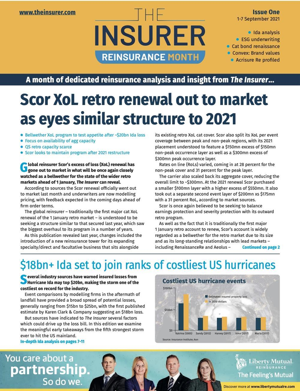 Reinsurance Month Issue One Cover