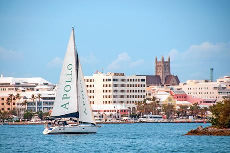 Sailboat in the Hamilton, Bermuda, harbor copy