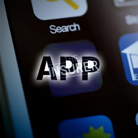 Photo close up of an iPhone with the word App
