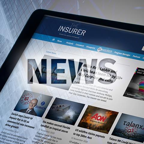 iPad with Insurer website  and the word news